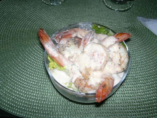 Mayaro, Trinidad: shrimp cocktail