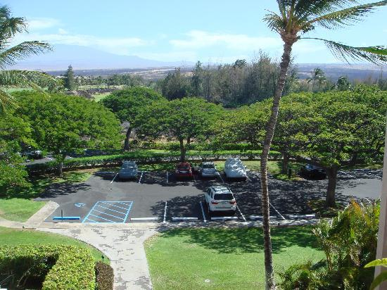 Aston Shores at Waikoloa: Looking Down to the Parking Lot