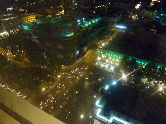 Caravelle Saigon: night view from the room