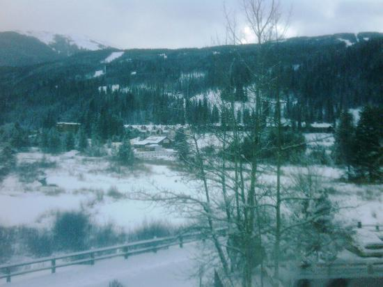 Inn at Keystone: view south from Window, cloudy morning
