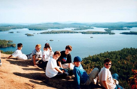 Holderness, NH: Squam Lake from West Rattlesnake