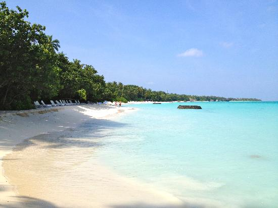 Kuramathi Island Resort: Beaches , lagoon side of the island