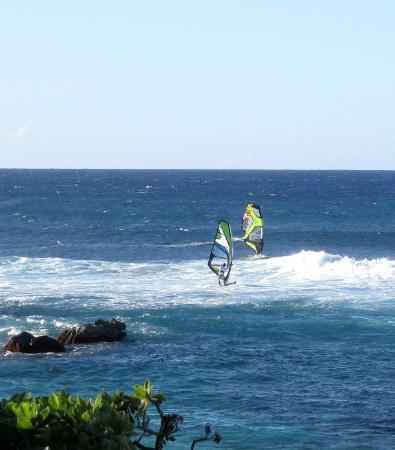 Paia, HI: Windsurfers at Ho'okipa Beach Park