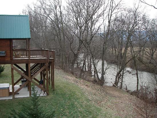 Gander Island Cabins: Shenandoah River