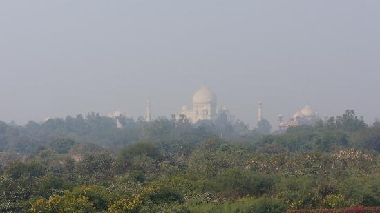 The Oberoi Amarvilas: view of the Taj from our room