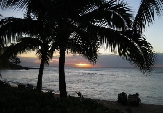 Napili Beach : Sunset on Napili Bay