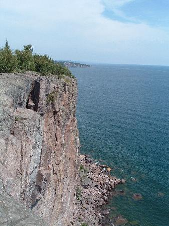 Duluth, MN: 300'  shear cliff of the Palisade Head, near Silver Bay, MN