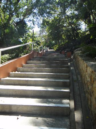 Las Brisas Huatulco: the first of our 210 stair climb to bed