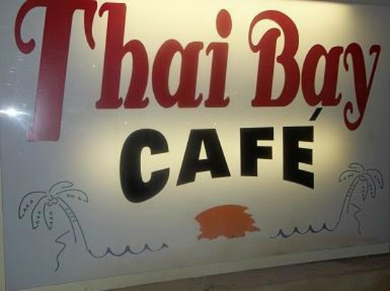 Thai Bay Cafe: sign on the lower corner of the building