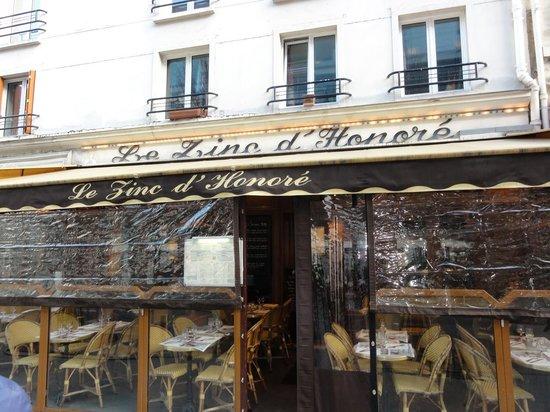 Le Zinc D'Honoré : The front of Le Zinc d'Honore.