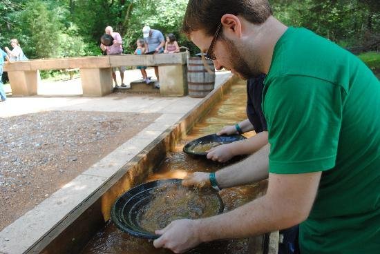 Reed Gold Mine State Historic Site: panning for gold