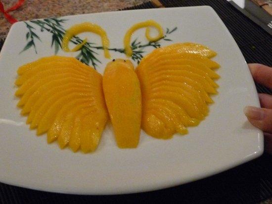 Fuji : Un dessert à la mangue