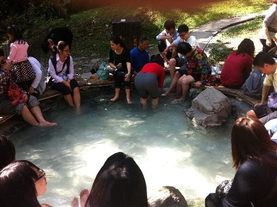 Chihpen: hot spring in the park