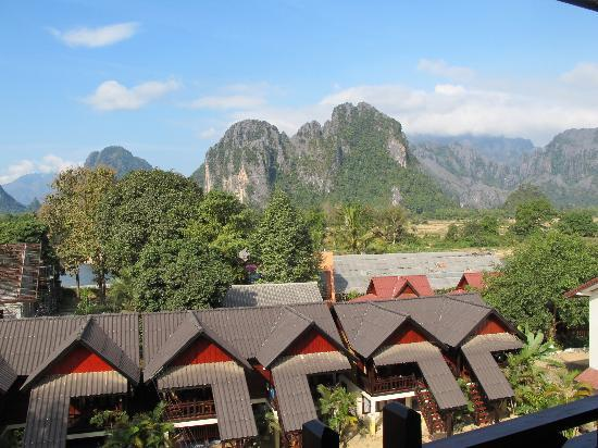 Vilayvong Guesthouse: View from the balcony