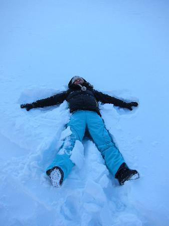 Ice Hotel Romania: snow angel