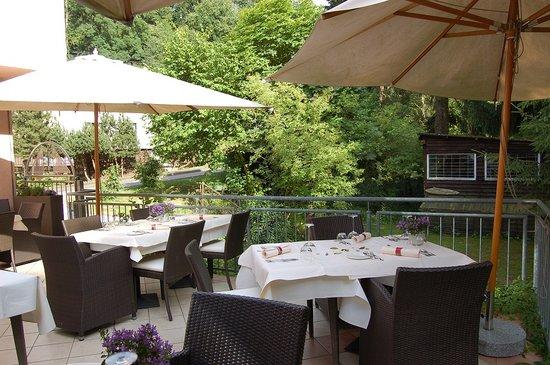 Restaurant Niedmuehle Land & Genuss Hotel: Terasse