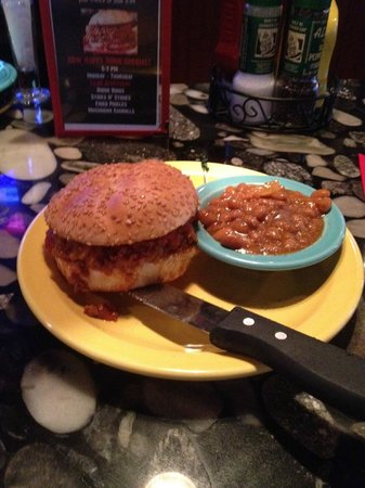 Square 1: Monday night sloppy joe's at Square One Burgers, outstanding!
