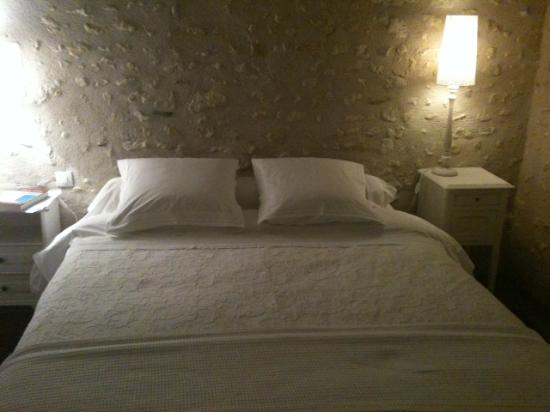 Le Moulin du Mesnil : Bedroom in the mill