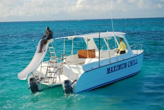 Blue Whale Tours & Excursions: Maximum Chill, TCI's Only Commercial Waterslide Catamaran