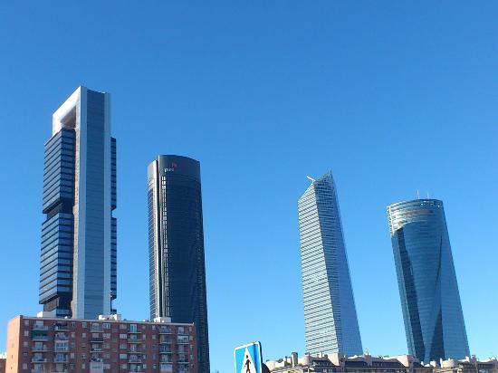 Las Cuatro Torres Los Rascacielos Mas Altos De Madrid Picture Of