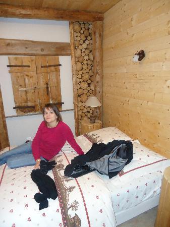 La Fee Verte : chambre  avec rondins
