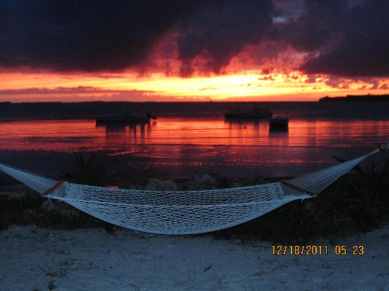 Small Hope Bay Lodge: Beautiful Sunrise