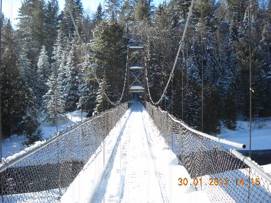 Randonneige Day Tours : Un pont suspendu...