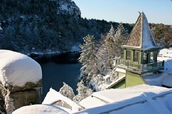 Mohonk Mountain House: View from the bedroom window