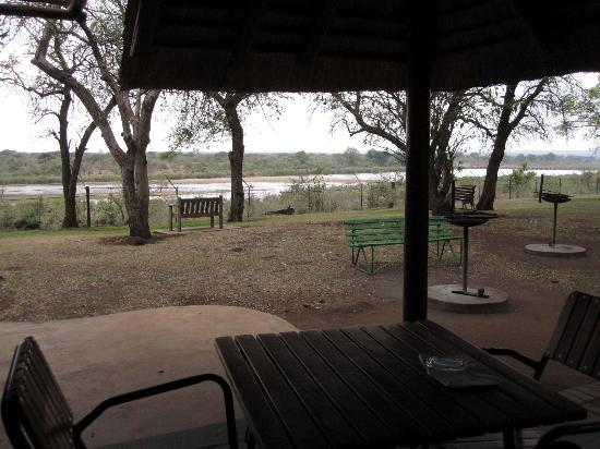 Lower Sabie Restcamp: View from hut by the river