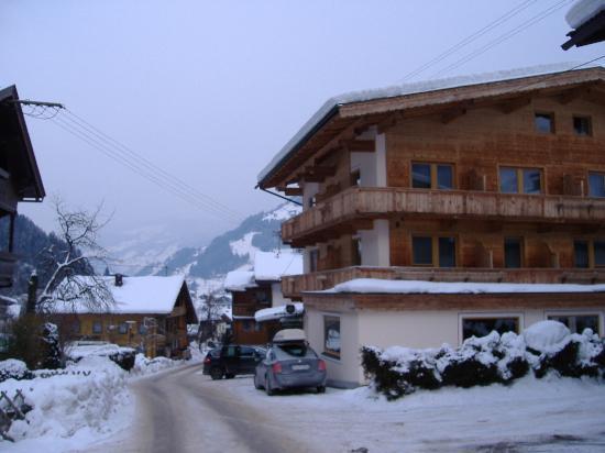Hotel Pension Alpina: roadside view