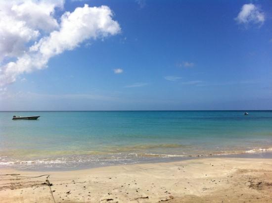 Cabanas El Recreo : The sea and the beach in front of El Recreo hotel