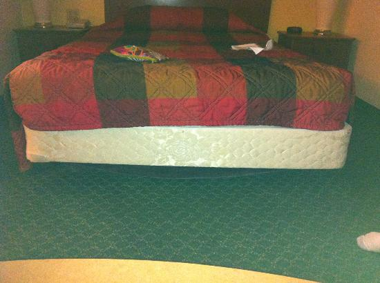 Extended Stay America - Jackson - East Beasley Road: This is how the bed was made upon entering the room.