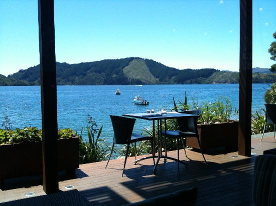 Bay of Many Coves: View from Guest Cafe