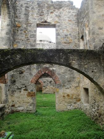 Mission San Jose: arches from yrs past