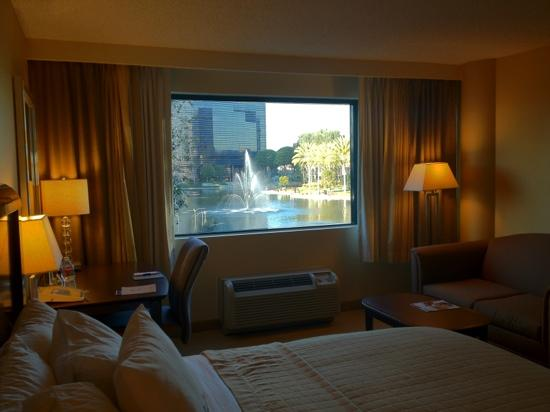 DoubleTree by Hilton Orange County Airport: Front facing rooms have view of pond
