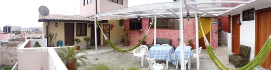 Hostal Marsella : The Terrace where you can relax in the afternoons