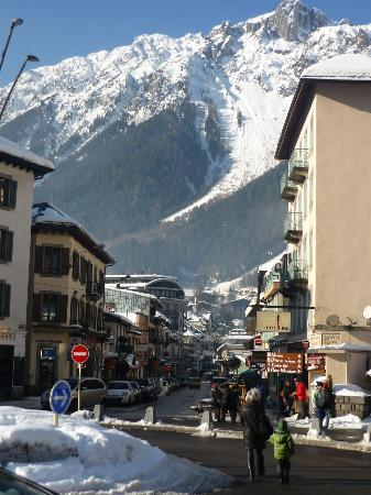 La Sapiniere: View from the station on arrival