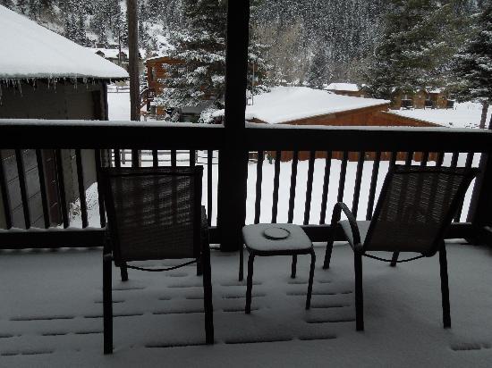 Timber Ridge Lodge: Our patio