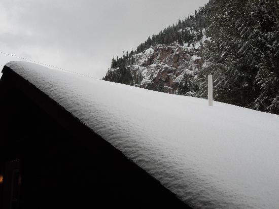 Timber Ridge Lodge: Fresh snow