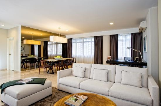 Fraser Residence Orchard, Singapore: Three Bedroom Residence - Living & dining room