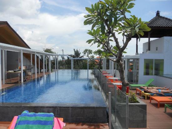 Best Western Kuta Beach Roof Top Pool On Sunny Day