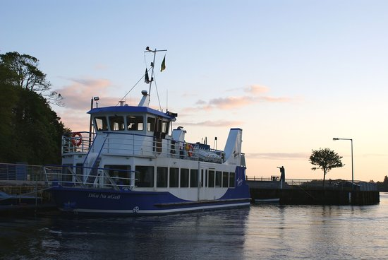 Donegal Town, Ireland: The Donegal Bay Waterbus resting at the quayside