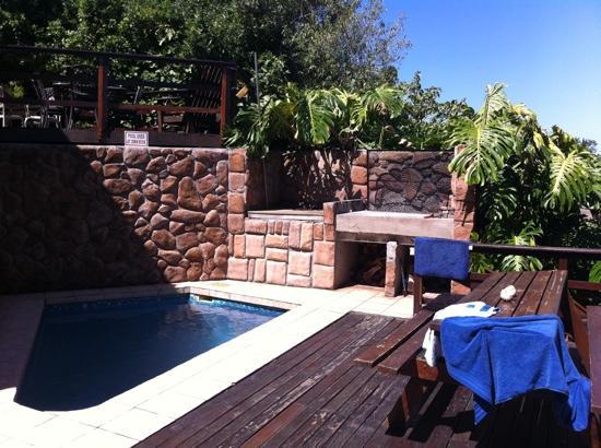 Island Vibe Knysna: small pool and braai area