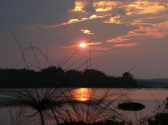 Viang Yonok Hotel, Restaurant, Sports Club: sunset from bamboo walkway