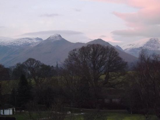 View from room 12 at Lakeside house, Derwent Water, Keswick.