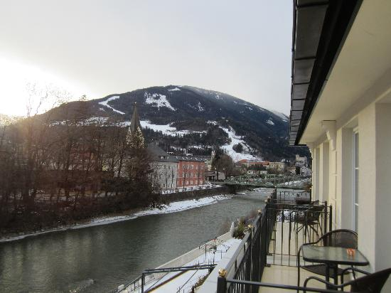 Grand Hotel Lienz: River view