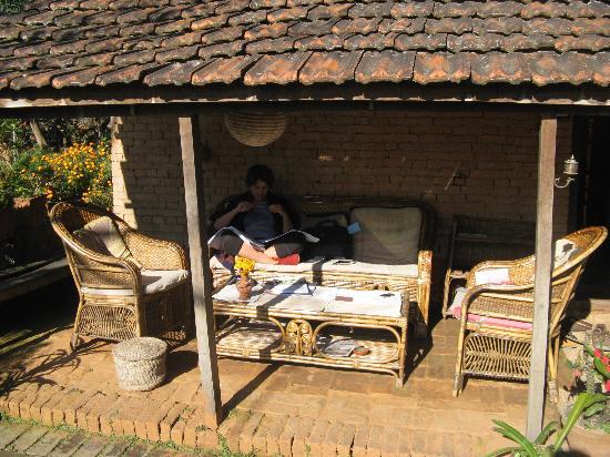 Gamcha Organic Farm & Guest House: The veranda to enjoy the sun .
