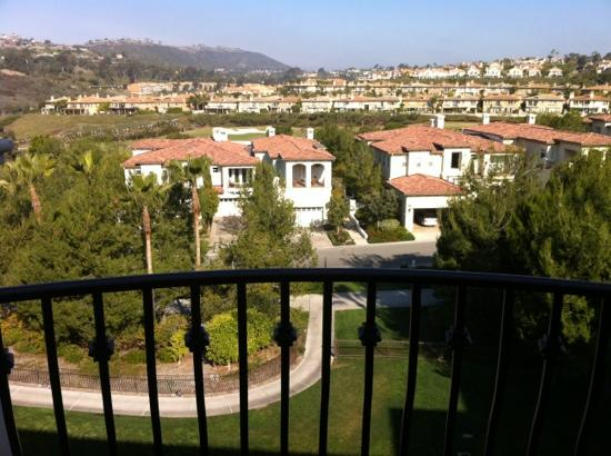 Monarch Beach Resort: view to street and more St Regis units.