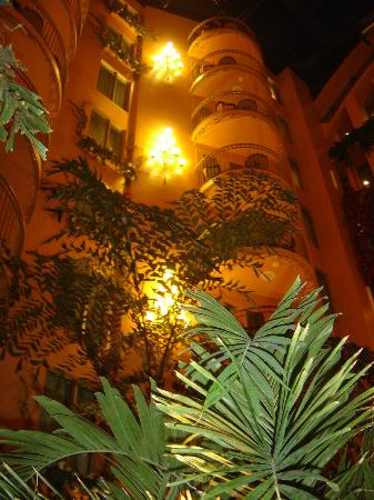 Hotel Palace Royal: Looking up from the pool area