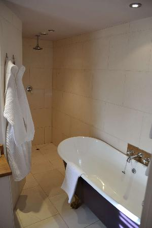The Black Swan: Great bathroom and open shower